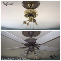 Painting a Ceiling Fan... on the Ceiling